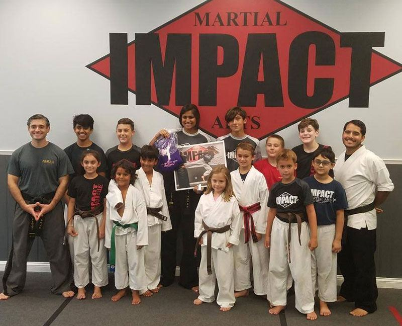 Impact Martial Arts students